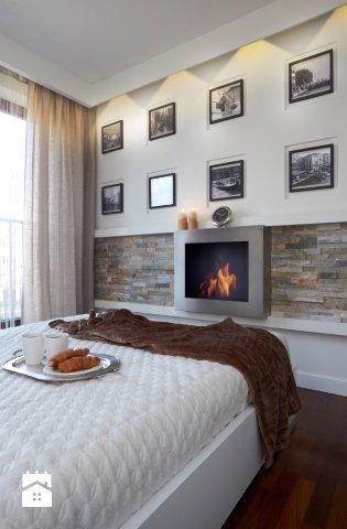 Sypialnia ocieplona kamieniem - zdjęcie od MM DeSign Małgorzata Mazur - Sypialnia - Styl Nowoczesny - MM DeSign Małgorzata Mazur
