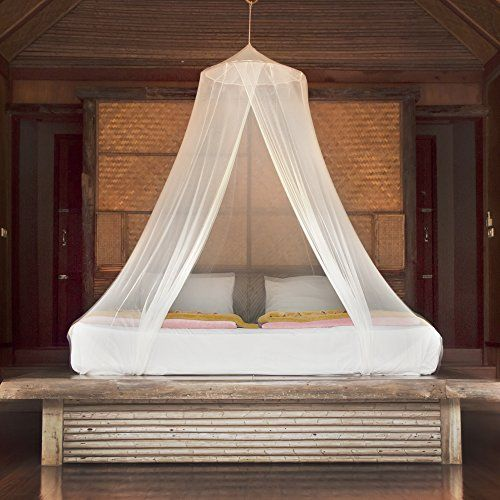 Posh Earth Hanging Mosquito Bed Net Bug Screen Canopy For Camping Glamping In Home Boho Decor