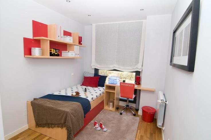 Habitación juvenil en Residencial Célere Tres Cantos #decoración #niños