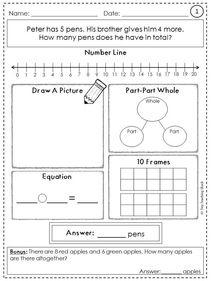 1st Grade Math Problems