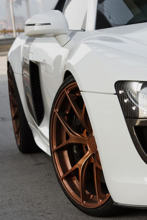 Rose gold rims.