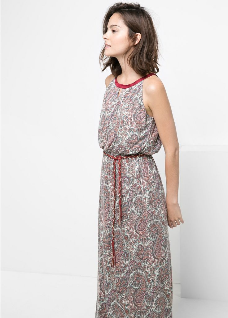 Długa sukienka paisley
