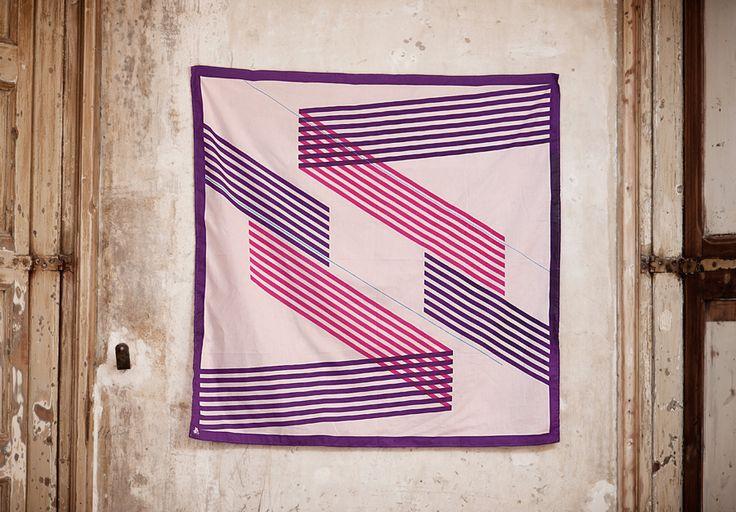 Diaguita- Púrpura (rosa) • 100% Cotton • 90cm x 90cm