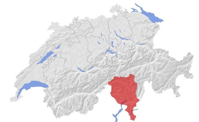 Lugano ve městě Tessin
