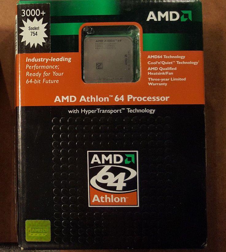 AMD Athlon 64 3000+ 2 GHz Processor Retail 754 ADA3000BXBOX CPU New #AMD