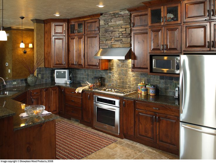 rustic hickory kitchen cabinets | some of these kitchens and let your imitation run wild click on the ...