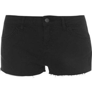 TOPSHOP MOTO Black Mini Denim Hotpants