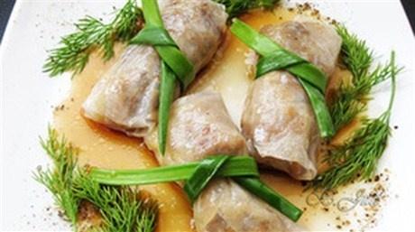 Нэм с начинкой из мяса и овощей