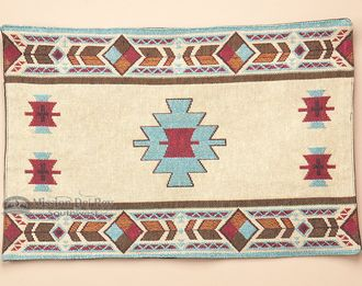 Woven Southwestern Tapestry Placemat 13x19 -Hopi  - Mission Del Rey Southwest