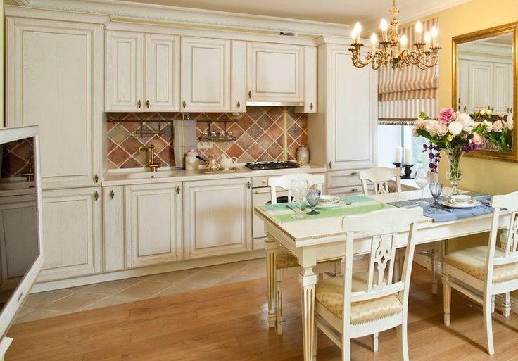прямая кухня классика белая ваниль светлая золотая патина на заказ в челябинске