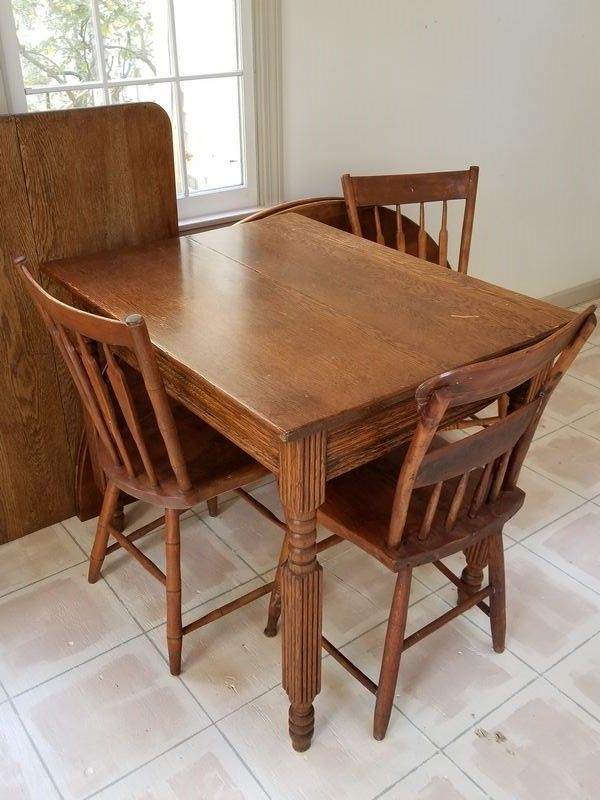 Two Old Wood Tables Three Small Scale Wood Chairs Round Table Top Wood Dining Room Dining Room Table Wood Dining Room Table