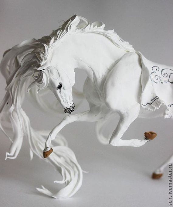 White Horse Skulpture Figurine Art Fantasy by DemiurgusDreams