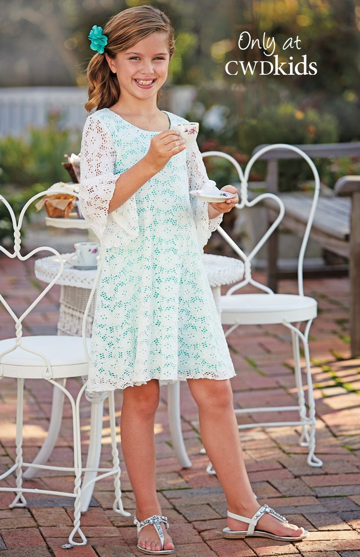 From CWDkids: Lace Bell Sleeve Dress