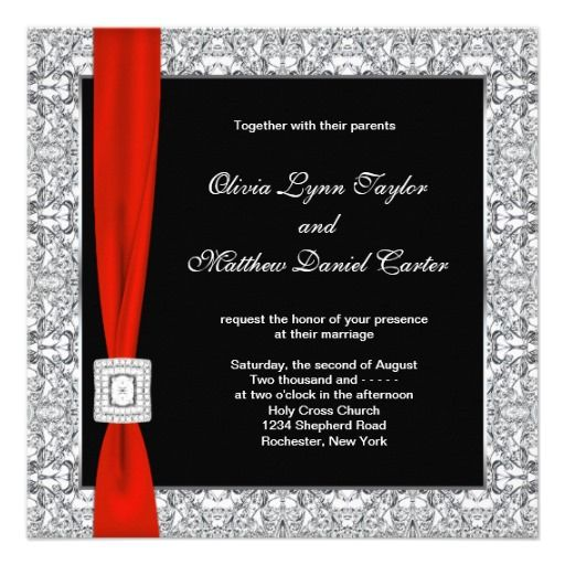 Red And Silver Wedding Invitations: 25+ Best Ideas About Red Silver Wedding On Pinterest