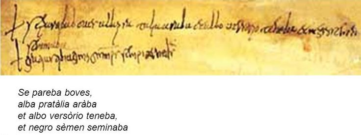 L'indovinello veronese fu scoperto nel 1924 da Luigi Schiapparelli in un codice della Biblioteca Capitolare di Verona e risale alla fine del secolo VIII o