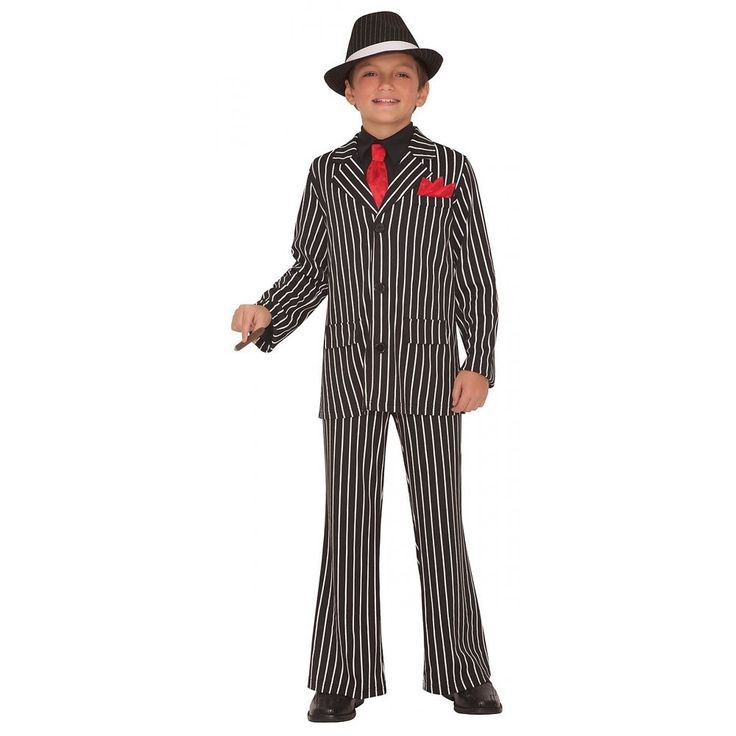 Gangster Costume Kids Roaring 20s Halloween Fancy Dress   Clothing, Shoes & Accessories, Costumes, Reenactment, Theater, Costumes   eBay!