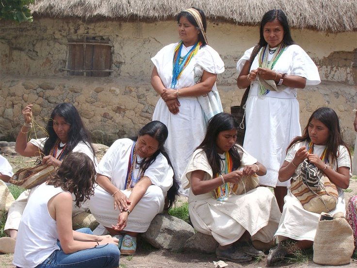 Arhuaco women in Nabusimake, Colombia.