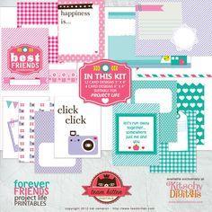 Free printable // Project Life Printable cards