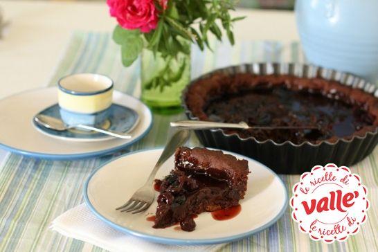 Crostata cioccolato e amarene #dessert
