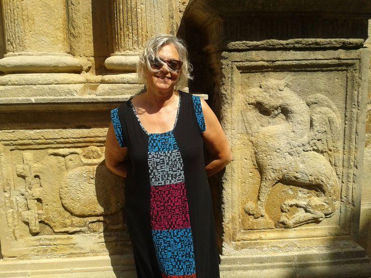 """Laura: """"Este vestido lo he llevado mil veces y no me canso de ponérmelo. Esta foto es del verano 2015 en Pinells de Brai (Tarragona)"""" #AmigasDeInstinto"""