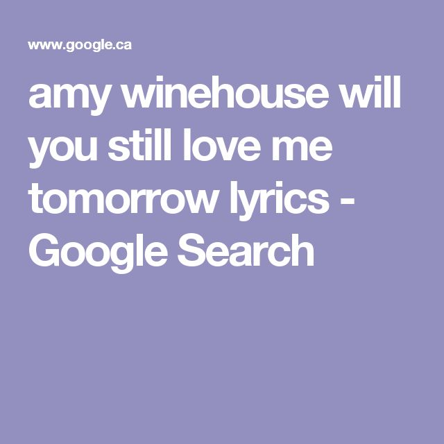 Amy Search Song Lyrics | MetroLyrics