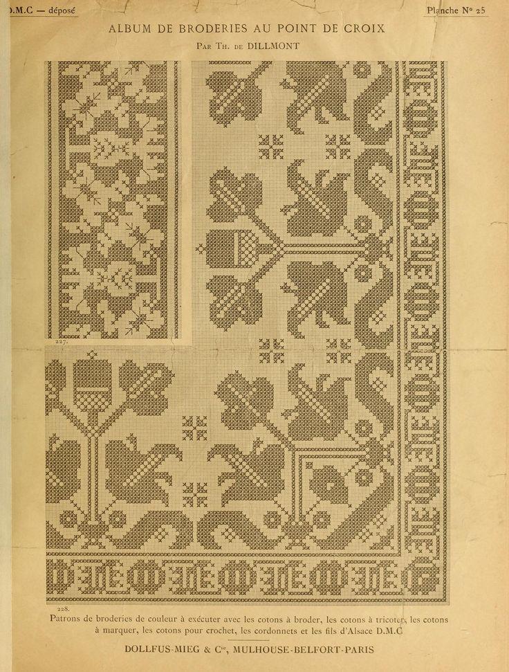 41 best patterns - book - Vol III - Album de broderies au point de croix images on Pinterest ...