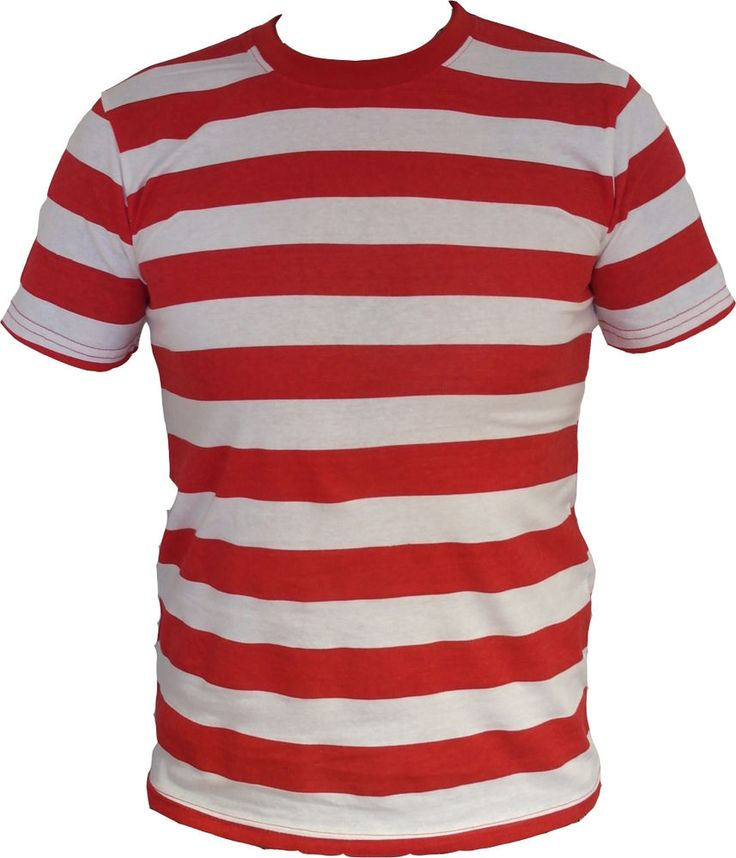 Details about men red and white striped shirt s m l xl for Mens red and white striped dress shirt