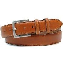 Cintura classica in pelle liscia 4cm Cognac/Stradivari per l'abbigliamento di tutti i giorni, marca ADPEL