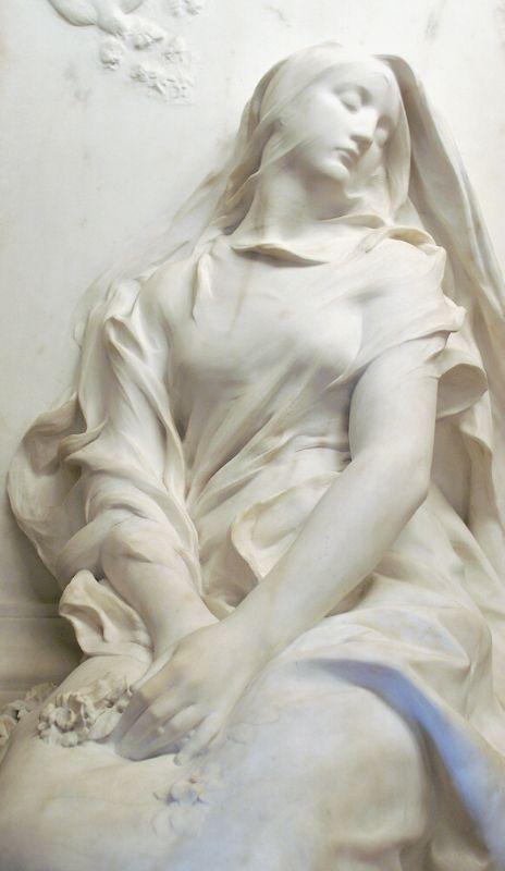 Le Souvenir (detail) by Marius Jean Antonin Mercié, 1885, Musée d'Orsay, Paris…