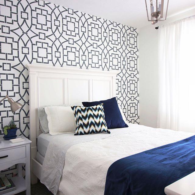 692 best stenciled painted bedrooms images on pinterest for Bedroom stencils designs