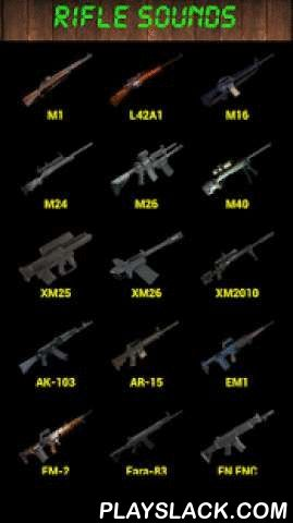 Rifle Sounds  Android App - playslack.com , More than 30 kinds of rifles and sounds, especially ready for friends of like guns, Which can be used to scare your friends, or play fighting games with partners. Click the screen or shake the mobile to gun shoo http://riflescopescenter.com/category/barska-riflescope-reviews/