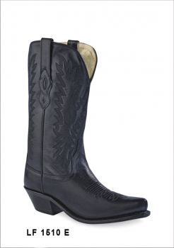 Botas de Senhora Texanas Cowboy Modelo LF1510E Marca Old WestMarca: Old WestRef: LF1510EEstilo: Botas Cowboy em peleCor: PretoPerímetro do cano: 34 cmAltura tacão: 3,5 cmAltura cano: 33 cmFabricação: Goodyear WeltedForro: Pele