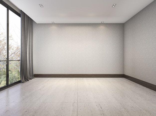 3d Rendering Empty White Minimal Room With Nice Wallpaper Near Window In 2020 Room Dance Rooms Empty Room