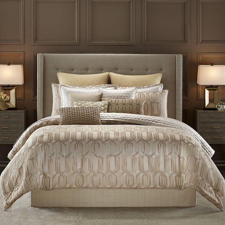 Candice Olson Interplay Comforter Set Candiceolson Beddingstyle Gold Metallic Bed