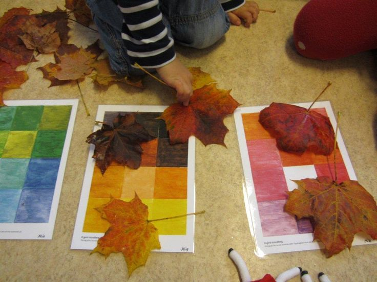 Autumn tips for preschool! Color Matching. Höst tips för förskolan! Färgmatchning.