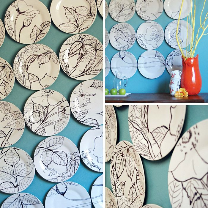 DIY Sharpie Projects • Lots of really great ideas  tutorials! Including this Anthropologie inspired DIY sharpie art from 'east coast creative'.