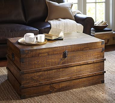 Mendell Reclaimed Wood Trunk #potterybarn
