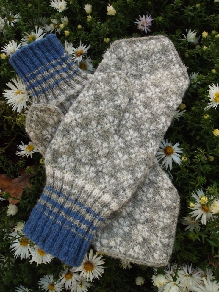 Finely Hand Knitted Estonian Mittens in Natural Tones - warm and durable. $58.00, via Etsy.