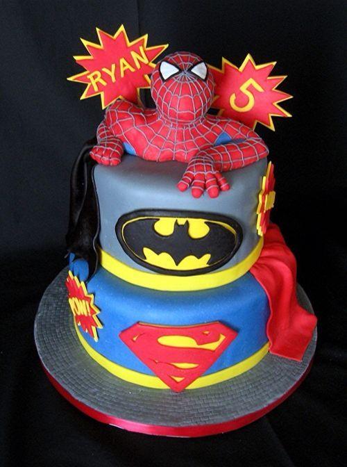 cool cakes | Splendid Superhero Cake