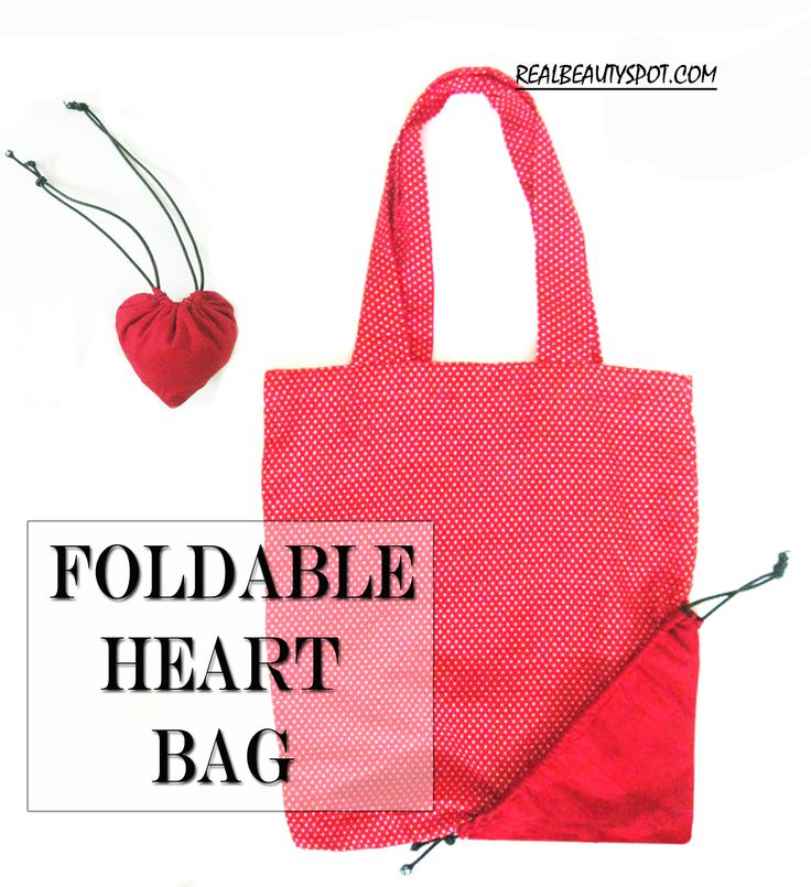 heart foldable bag - gifts for mom and yaya with Sini art embrodery