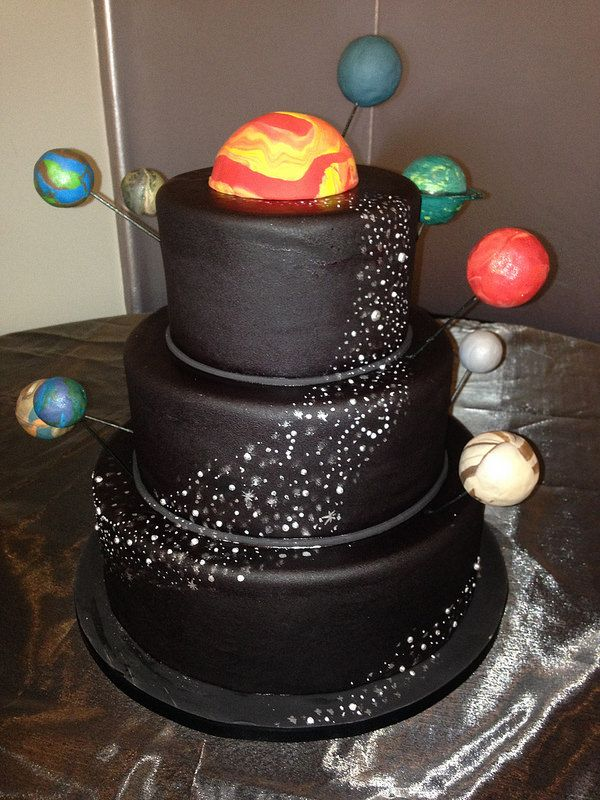 Outer space cake custom cakes pinterest cakes outer for Cake decorations outer space