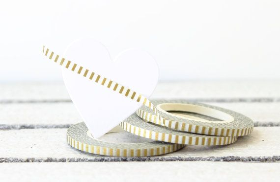 Hey, I found this really awesome Etsy listing at https://www.etsy.com/listing/209418607/gold-washi-tape-thin-washi-tape