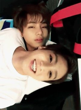 Jungkook's smiling cause he's with bae #vkookisstrongerthanjikook
