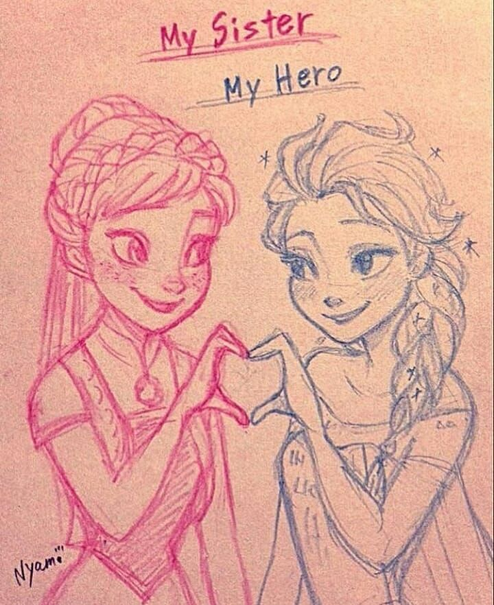 2 873 Likes 5 Comments Anna Bjorgman X Anna Arendelle X On Instagram Sis And Me Cr Idk Krist Disney Princess Drawings Frozen Drawings Disney Drawings