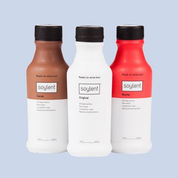 Soylent Drink bottles with different flavors.