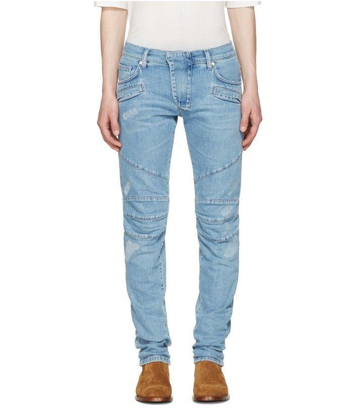 Soldes Jeans Homme SSENSE achat Pierre Balmain Jean à panneaux bleu prix Soldes SSENSE 323.00 € TTC au lieu de 475 €