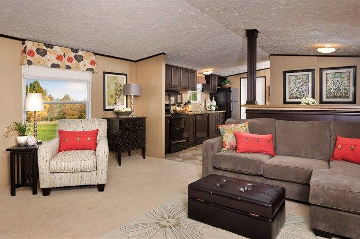 Single wide mobile home 15 39 wide wow this is really nice for a mobile home unless a tornado - Mobile home decorating ideas image ...