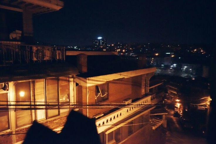 창문앞 풍경