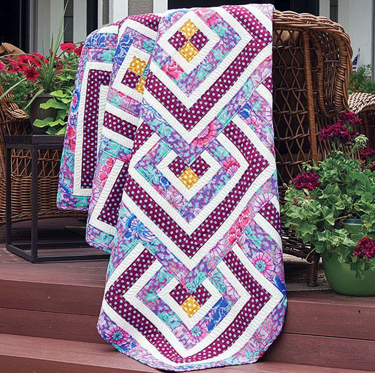 28 best Log Cabin Quilting images on Pinterest | Projects, Baby ... : log cabin style quilts - Adamdwight.com