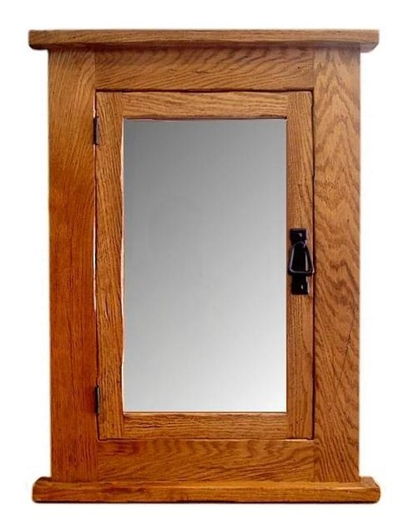 This Solid Oak Mission Recessed Medicine Cabinet Solid Wood Is